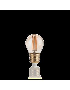 IDEAL LUX: Lampadina E27 led 4w sfera vetro vintage ambra luce calda in offerta