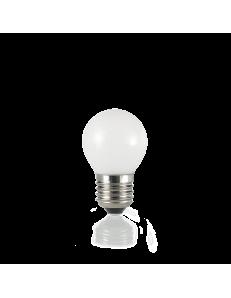 Lampadina E27 led 4w sfera vetro bianco luce calda