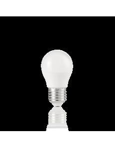 Lampadina E27 led 7w sfera plastica bianca luce calda