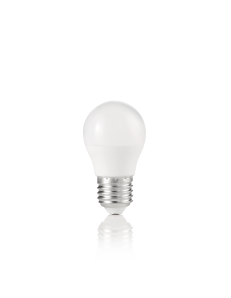 Lampadina E27 led 7w sfera plastica bianca luce naturale