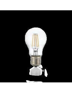 Lampadina E27 led 8 w goccia vetro trasparente luce calda