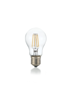 Lampadina E27 led 4 w goccia vetro trasparente luce calda