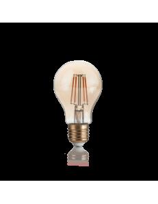 IDEAL LUX: Lampadina E27 led 4 w goccia vetro ambra vintage luce calda in offerta