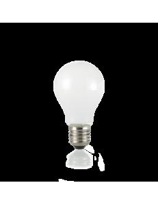 Lampadina E27 led 8 w goccia vetro bianco luce calda