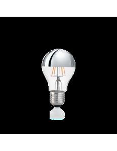 Lampadina E27 led 8 w goccia vetro cromo luce calda