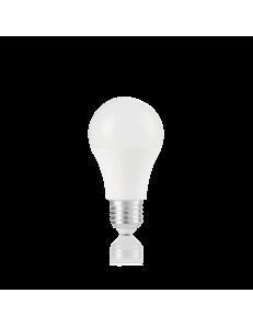 Lampadina E27 led 10 w goccia plastica bianca luce calda