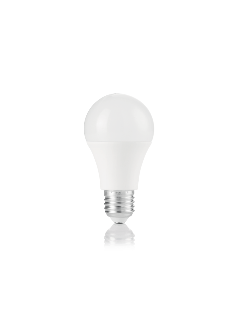 IDEAL LUX: Lampadina E27 led 10 w goccia plastica bianca luce calda in offerta