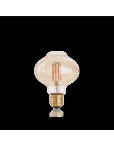 Lampadina E27 led 4 w Bolla vetro ambra vintage luce calda