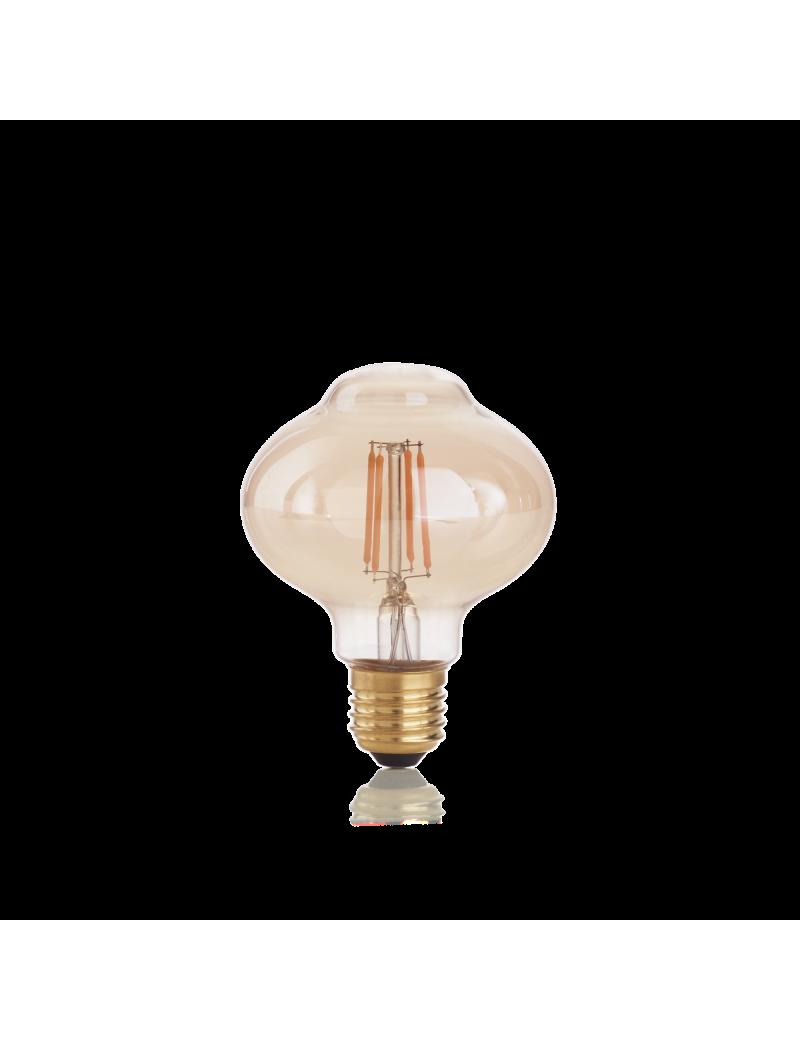 IDEAL LUX: Lampadina E27 led 4 w Bolla vetro ambra vintage luce calda in offerta