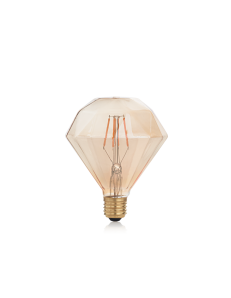 IDEAL LUX: Diamond lampadina E27 led 4w vetro ambra vintage luce calda in offerta