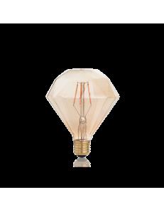 Diamond lampadina E27 led 4w vetro ambra vintage luce calda