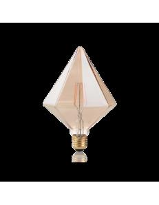 Pyramid lampadina E27 led 4w vetro ambra vintage luce calda