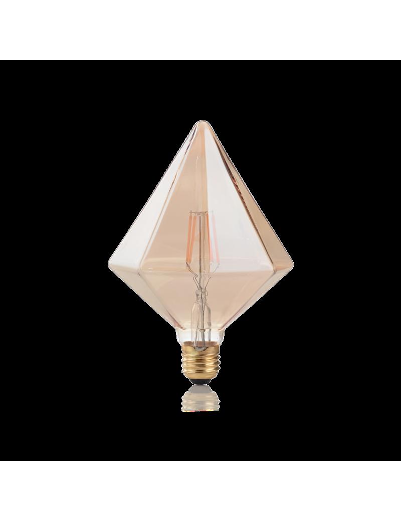 IDEAL LUX: Pyramid lampadina E27 led 4w vetro ambra vintage luce calda in offerta