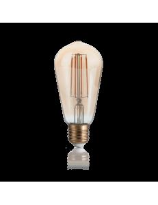 IDEAL LUX: Cono lampadina E27 led 4w vetro ambra vintage luce calda in offerta