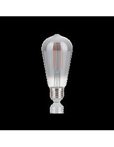IDEAL LUX: Cono lampadina E27 led 4w vetro fume vintage luce calda in offerta