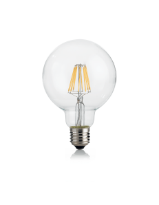 IDEAL LUX: Globo d95 lampadina E27 led 8w vetro trasparente luce calda in offerta