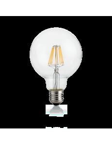 Globo d95 dimmerabile lampadina E27 led 8w vetro trasparente luce calda