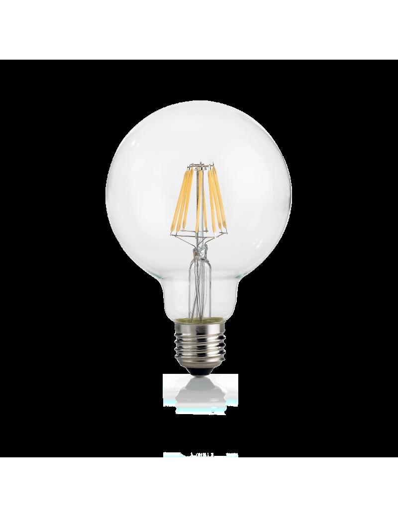 IDEAL LUX: Globo d95 dimmerabile lampadina E27 led 8w vetro trasparente luce calda in offerta