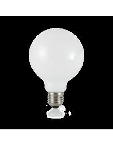 IDEAL LUX: Globo d95 lampadina E27 led 8w vetro bianco luce calda in offerta