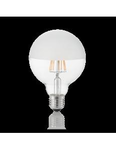 IDEAL LUX: Globo d95 lampadina E27 led 8w vetro satinato luce calda in offerta