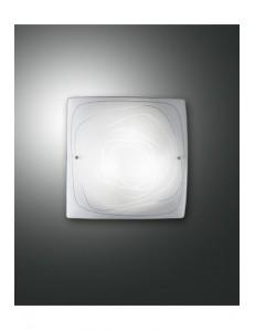 Lynn Plafoniera quadrata 30x30 struttura in metallo e diffusore in vetro banco