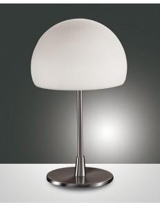 Gaia big lampada tavolo nichel e vetro accensione al tocco ø14