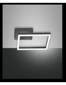 Bard applique plafoniera LED quadrata dimmerabile antracite