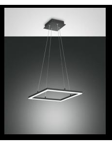 Bard sospensione LED quadrata dimmerabile antracite