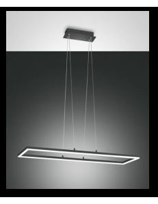 FABAS LUCE: Bard sospensione LED 52w rettangolare antracite luminosissima in offerta