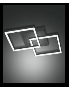FABAS LUCE: Bard plafoniera moderna LED doppio quadrato dimmerabile antracide in offerta