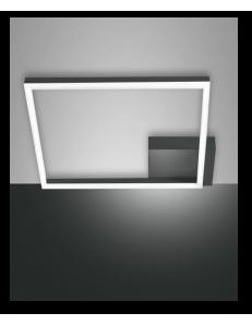 Bard plafoniera LED quadrata moderna dimmerabile antracide