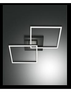 FABAS LUCE: Bard plafoniera LED doppio quadrato dimmerabile antracide in offerta