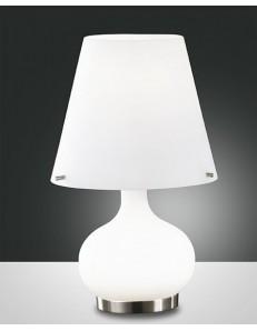 Fabas Luce: Ade tavolo doppia piccolo accensione lume bianco in vetro