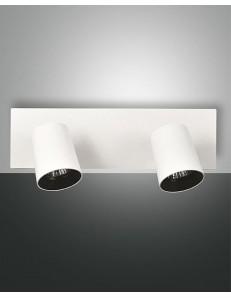 Modo Spot metallo bianco 2 luci diffusore cilindro