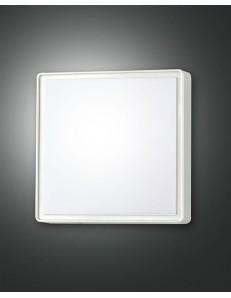 FABAS LUCE: Oban IP65 Plafoniera quadrata 24 policarbonato esterno bianco con sensore in offerta