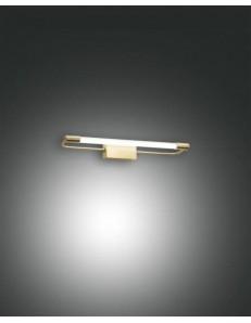FABAS LUCE: Rapallo lampada Parete specchio ottone satinato led 10 watt in offerta