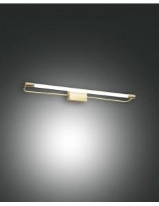 FABAS LUCE: Rapallo lampada Parete specchio ottone satinato led 14 watt in offerta