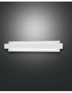 Regolo applique rettangolare vetro con metallo bianco led 21 watt
