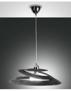 Aragon lampada sospensione nero vetro effetto vortice