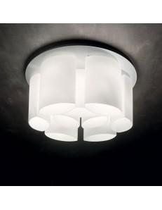 IDEAL LUX: Almond Pl9 Ø75 plafoniera rotonda moderna vetro bianco incamiciato in offerta