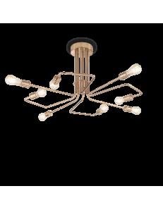 IDEAL LUX: Triumph pl8 plafoniera lampadario stile rustico ottone in offerta