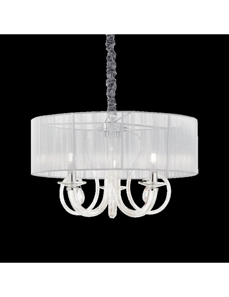 IDEAL LUX: Swan sp3 lampadario contemporaneo 3 luci argento in offerta