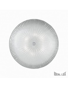 IDEAL LUX: Shell PL6 Plafoniera rotonda Ø60 vetro trasparente in offerta