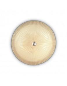 IDEAL LUX: Shell PL6 Plafoniera rotonda Ø60 vetro ambra in offerta