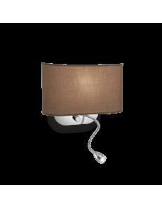 IDEAL LUX: Sheraton AP2 Applique marrone con Led da lettura in offerta