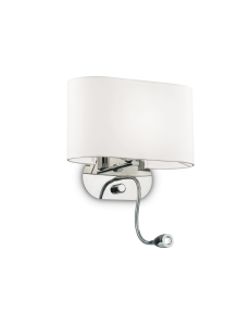 IDEAL LUX: Sheraton AP2 Applique bianco con Led da lettura in offerta