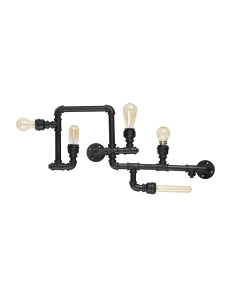IDEAL LUX: Plumber pl5 plafoniera 5 luci rustico nero opaco in offerta