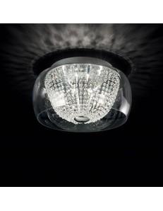 IDEAL LUX: Audi-61 pl8 plafoniera Ø 50 vetro e cristalli soggiorno in offerta