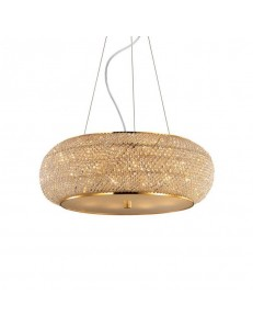 IDEAL LUX: Pasha' sp14 sospensione con perle in cristallo rotonda ø65 oro in offerta