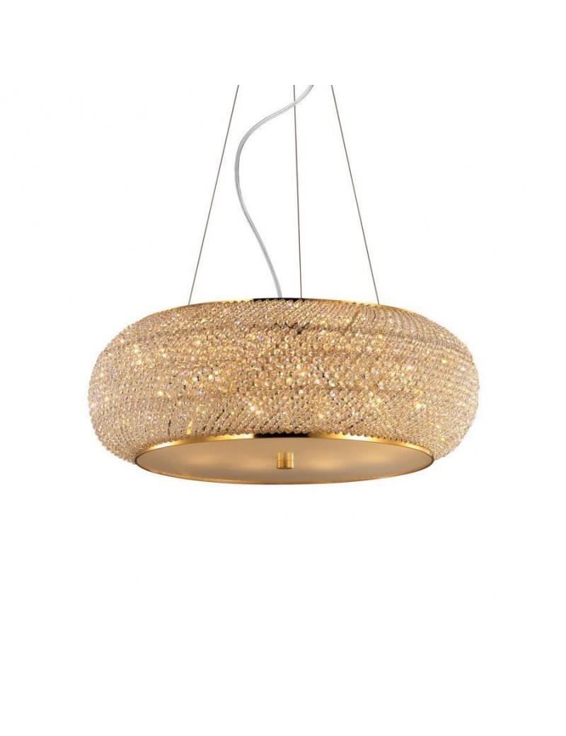 IDEAL LUX: Pasha' sp14 sospensione con perle in cristallo rotonda ø65 oro in offerta